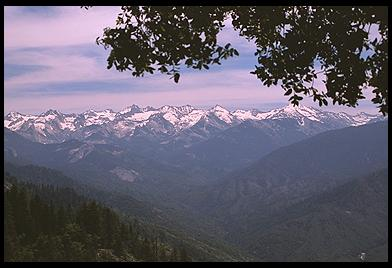 Pictured: Moro Rock, Great Western Divide [May 29, 1997]